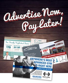 advertise now, pay later!